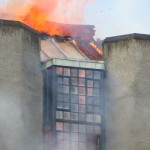 Fire and roof ablaze