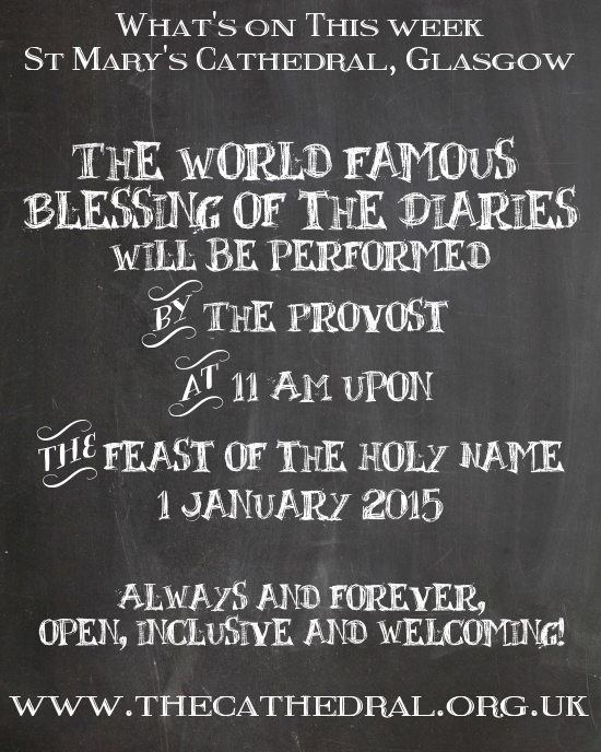 Blessing of the Diaries - 11 am on 1 January 2014